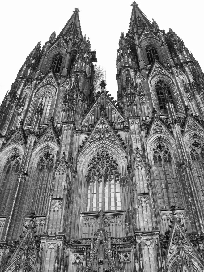 Koln Dom main entry and spires