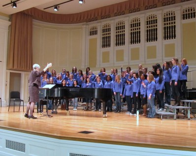 The visiting HS women's choir