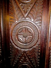 detail of wardrobe door