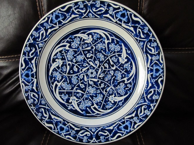 The lovely plate I bought at Galeri Z in Ankara.