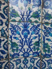 Tile detail, New Mosque
