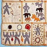 Lower left corner of Harriet Powers' Bible Quilt: Smithsonian Museum