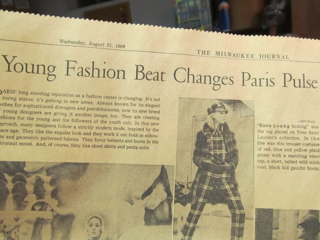 Young Fashion Beat Changes Paris Pulse -- better look at the Yves St. Laurent outift, too.