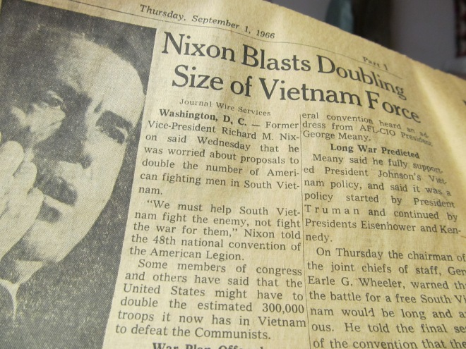 Nixon Blasts Doubling Size of Vietnam Force. He was former Vice-President Nixon at the time.