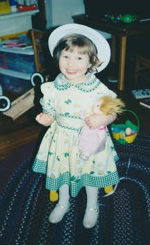 Sarah Grace dressed for Easter 2001