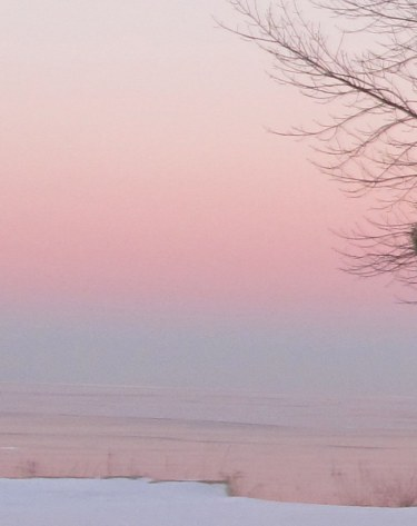 Lake Michigan pastel sunset, pink ice image by TTQ cc