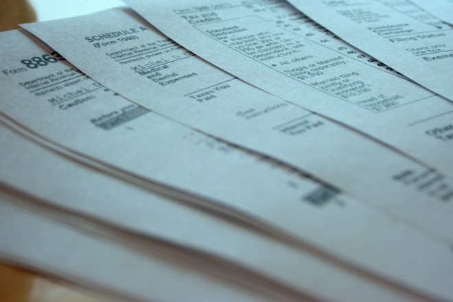 tax forms:  image by 427 via Flickr CC