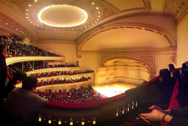 """At Carnegie Hall"" by Steven Severinghaus  Some Rights Reserved via FlickrCC"