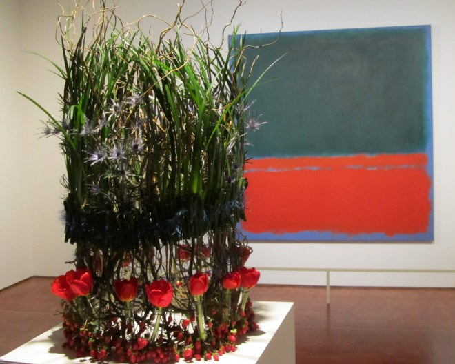 Image by The Tromp Queen, taken at Milwaukee Art Museum during 2014 Art in Bloom exhibit.