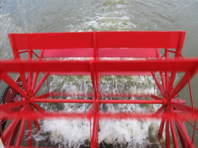 The Dixie Boat's paddlewheel; image by The Tromp Queen, CC license