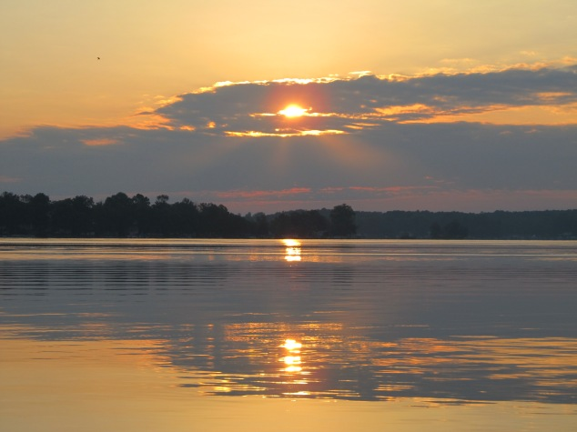 image by The Tromp Queen, CC license; sunrise over Lake Webster