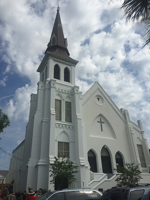 Emanuel AME Church, Charleston, South Carolina, Saturday, June 20, 2015 image by jalexartis via Flickr CC license