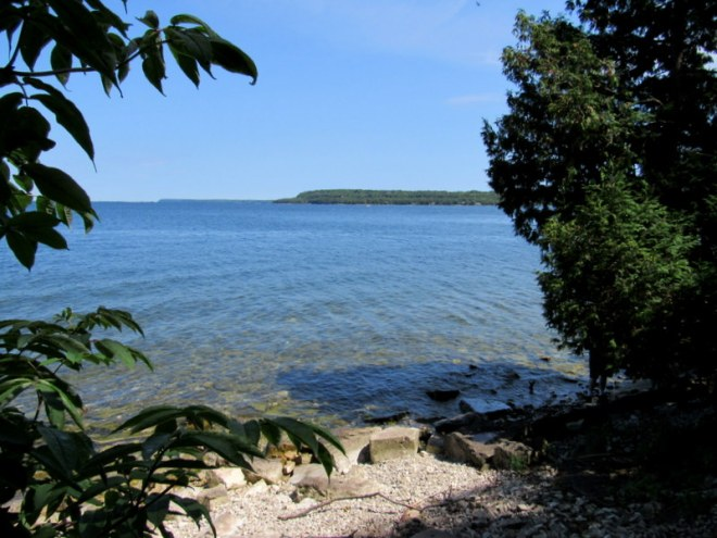 Door County, Wisconsin. View from Eagle Trail in Peninsula State Park.  Image by The Tromp Queen, CC license 4.0