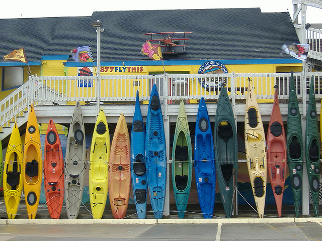 Image by Lori Wright: five little kayaks and how they grew. Via Flickr CC license.