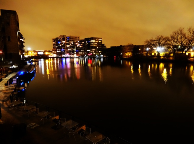Image of Milwaukee River at night by Rough Tough, Real Stuff via Flickr CC license.