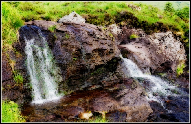 Easan Dubh waterfall near Rest and Be Thankful, image by Tim Haynes via Flickr CC license