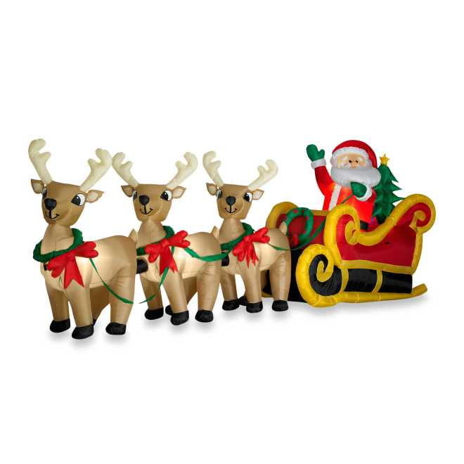 Google images, 16 ft inflatable Santa with reindeer and sleigh.
